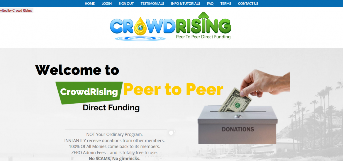 Crowdrising Website